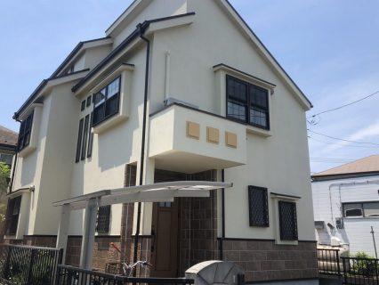 町田市K様邸で外壁屋根塗装
